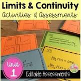 Limits and Continuity Review & Assessment (Unit 1) Bundle
