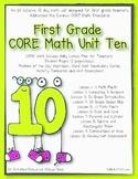 First Grade CORE Math Unit 10