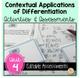 Unit 3 Applications of Differentiation Review & Assessment
