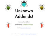 Unknown Addends - Common Core 1.0A.8
