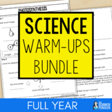 Upper Elementary Science Weekly Warm-ups Bundle