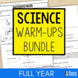 Upper Elementary Science Weekly Warm-ups Bundle