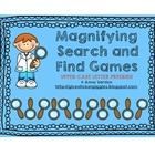Upper-case Letter Magnifying Search and Find Game