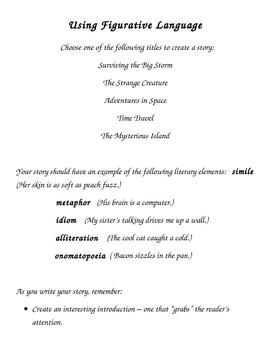Using Figurative Language - Creative Stories