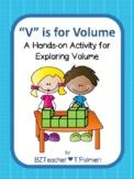 """V"" is for Volume - finding volume using cubes - no multip"