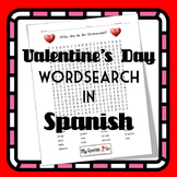 VALENTINE'S DAY:  Valentine's Day Wordsearch in Spanish