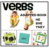 VERBS... He She They + Verbs  Adapted Book  Autism Speech Therapy