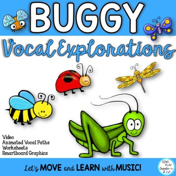 VOCAL EXPLORATION Spring Theme *Insects *Printables *Puppets