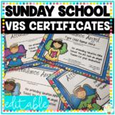 Vacation Bible School & Sunday School Attendance Awards (E