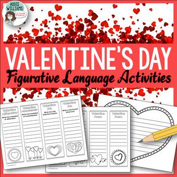 Valentine Bookmarks - Practice Figurative Language / Poetry Terms