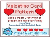 Valentine Card Template Patterns
