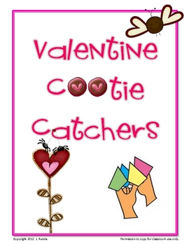 Valentine Cootie Catchers - FREE
