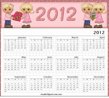 Valentine Couple 2012 Yearly Calender