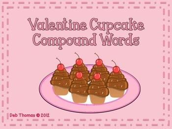 Valentine Cupcake Compound Words