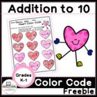 Valentine Heart Addition Color Code Freebie