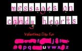 Valentine Rivet Game - Similar to Wheel of Fortune