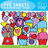Valentine Scrappy Love Sweets - Clipart for Teachers