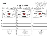 Valentine's Day A B C Order Activity
