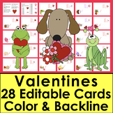 Valentine's Day Cards-Personalize, Print & Fold!-Valentine