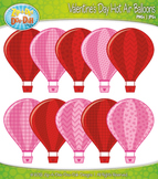 Valentine's Day Hot Air Balloons Clipart — Includes 10 Bri