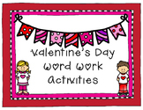 Valentine's Day Literacy Activities for small groups and RTI
