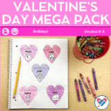 Valentine's Day MEGA Pack! Reading, Writing, and Math Acti