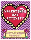 Valentine's Day Parts of Speech Activity