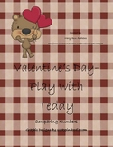 Valentine's Day- Play with Teddy- Comparing Numbers