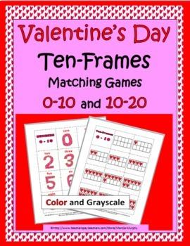 Ten Frames - Valentine's Day Theme