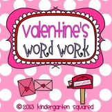 Valentine's Day Word Work Literacy Stations and Centers
