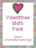 Valentines Math Pack  ~ Number Bonds and Fact Families