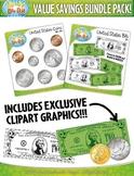 Value Savings Bundle Pack: US Coins & Bills Currency Money