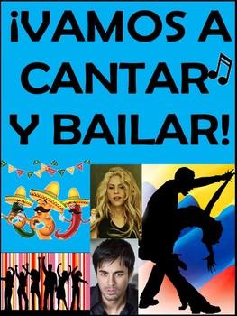 Vamos a Cantar y Bailar - Spanish Song and Cloze Activitie