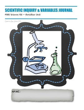 Variables Journal Unit Packet - FOSS Science Kit (Variables Unit)