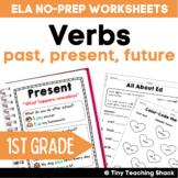 Verbs (Past, Present, Future) Common Core Practice Sheets L.1.1.E
