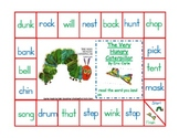 Very Hungry Caterpillar short vowel 4 letter word game board