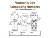 Veteran's Day Math Using Numbers 1-5