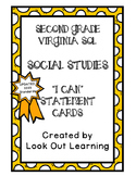 "Virginia SOL ""I Can"" Statement Cards-Social Studies-Second Grade"