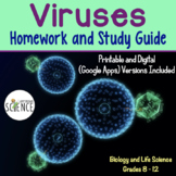 Viruses:  Homework / Study Guide