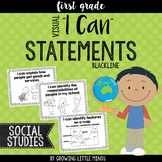"""Visual """"I Can"""" Statements for Social Studies"""