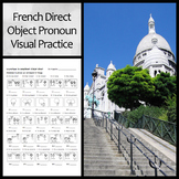 Visual Practice Worksheet: French Direct Object Pronouns