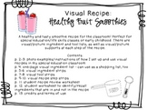 Visual Recipe for the Special Ed Classroom - Healthy Fruit