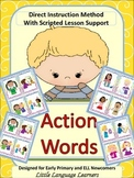 Vocabulary Building Cards- Action Words for Early Primary