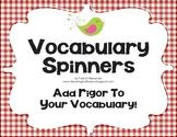 Vocabulary Comprehension Center Common Core Aligned ELA L.