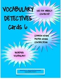 Vocabulary Detectives Task Cards 6 Common Nouns, Proper No