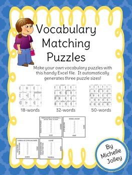 Vocabulary Matching Puzzle