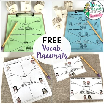 Vocabulary Placemat: Printable Graphic Organizer for Learn