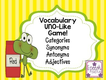 Vocabulary UNO-Like Card Game!