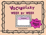Vocabulary Week by Week