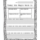 Vocabulary Word of the Day Template